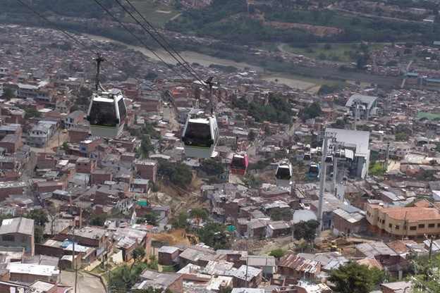One of four 'Metrocable' public transport lines in Medellin (two more coming)/ Source: Gabriel Buitrago