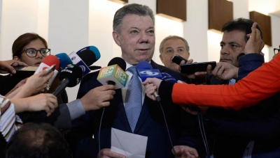 Colombia President Juan Manuel Santos Announces OECD Affiliation at May 25, 2018 Press Conference