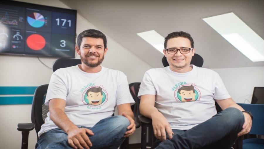 Alegra CEO Jorge Soto (left); CTO Santiago Villegas (right)