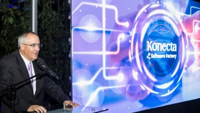 Konecta Colombia President Jose Roberto Sierra at Medellin 'Software Factory' Inauguration