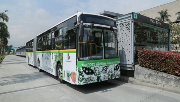 Medellin Metro's First Electric Bus