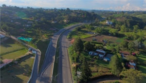Proposed 'Doble Calzada Oriente' Highway Project Near Medellin (Artist's Conception)