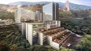 Artist's Conception of Under-Construction Hilton Hotel Medellin