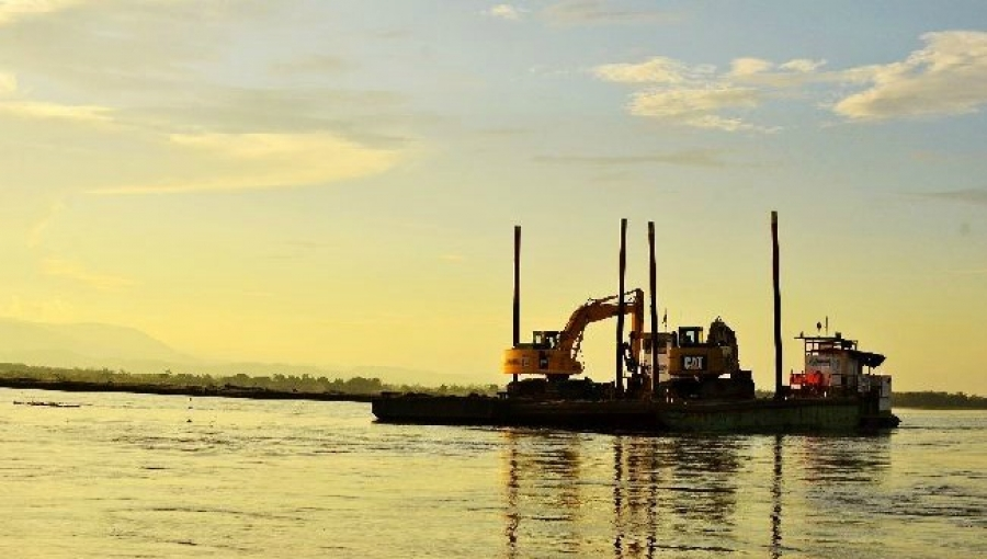 Dredging Barge on Magdalena River