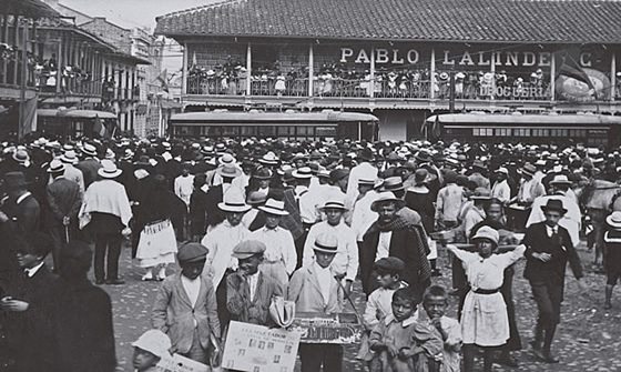 Inauguration of Tranvia de Medellin in early 20th Century/ Source: Mapa Centro de Medellin