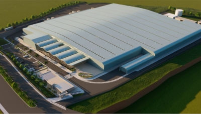 Artist's Conception of Smurfit Kappa's New Guarne, Antioquia Cardboard Plant