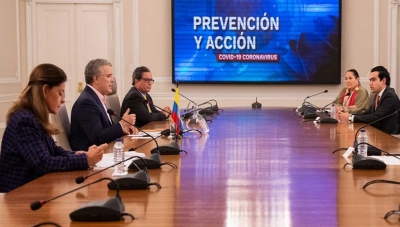 Colombia President Duque & Cabinet Unveil Coronavirus Crisis Payroll Subsidies on May 6, 2020