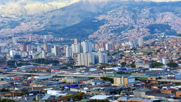 Medellin Panorama View From Pueblito Paisa