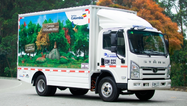 Electric trucks Renting Colombia and Auteco March 2019