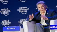 Colombia President Santos at WEF in Medellin
