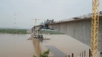 Nearly Completed Riomagdalena Bridge at Puerto Berrio, Antioquia