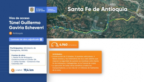Toyo Tunnel Connection Project West of Santa Fe de Antioquia
