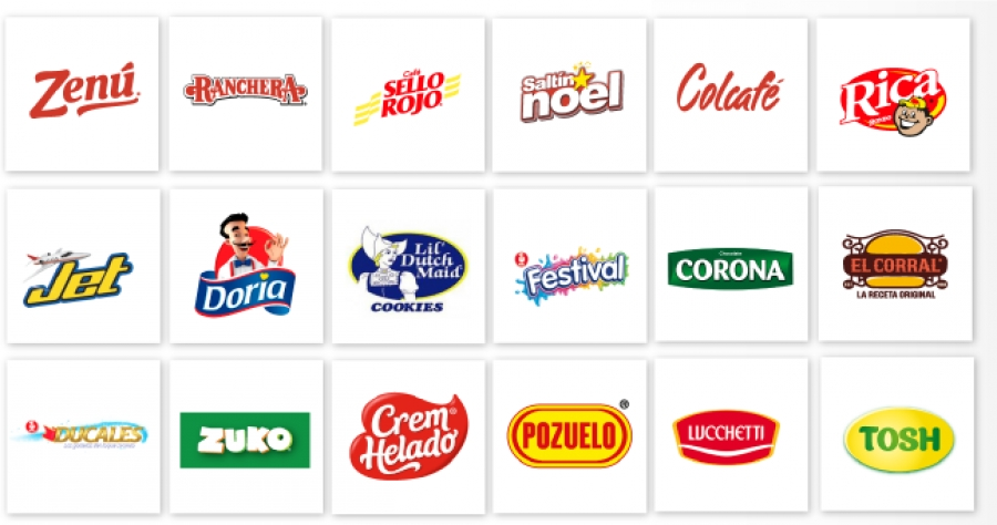 Grupo Nutresa's Various Food Brands in Colombia