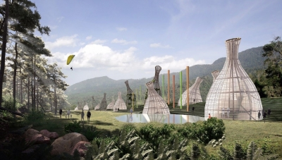 Artist's Conception of AngloGold Ashanti's Proposed 'Biodynamic' nature park at 'Quebradona' Copper-Gold Mining Project at Jerico, Antioquia