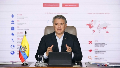 Colombia President Ivan Duque Advises of Possible Changes to Coronavirus Quarantine on April 4, 2020